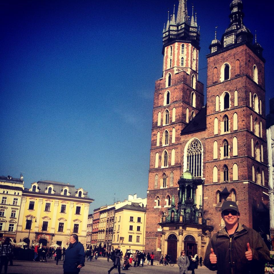 Krakow tower with bill